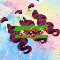 3 BUNDLES UNPROCESSED VIRGIN PERUVIAN BODY WAVE HAIR  BURGUNDY 16 INCHES **ALL SALES FINAL**