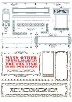 Vintage Text Frames and Dividers Free Vector Cd R, Text Frame, Coreldraw, Vector File, Templates, Silhouette, Pattern, Cnc Router, Dividers