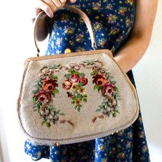 50s tapestry bag...this could be a craft idea.