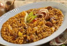 Hagyományos pásztortarhonya Chana Masala, Real Food Recipes, Chili, Food And Drink, Soup, Ethnic Recipes, Chile, Chilis, Soups