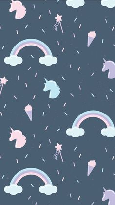 Wallpaper From unicorns Unicornios Wallpaper, Hipster Wallpaper, Kawaii Wallpaper, Tumblr Wallpaper, Disney Wallpaper, Lock Screen Wallpaper, Pattern Wallpaper, Wallpaper Quotes, Rainbow Wallpaper