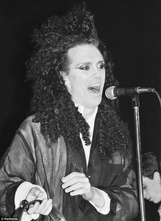 Pete Burns performs live on stage with The Smiths at The Royal Albert Hall in London in April 1985