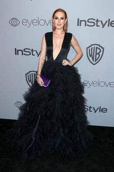 Rumer Willis attends the InStyle and Warner Bros. Golden Globes afterparty in Beverly Hills on Jan. 7, 2018.