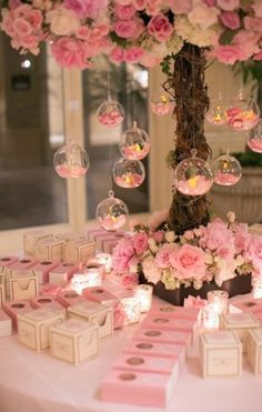 So, Choose your color wisely and make a noise with trending list of Wedding Decor From hanging lights, quirky decor centerpieces here is the best of all season! Quinceanera Decorations, Quinceanera Party, Pink Wedding Decorations, Quince Decorations, Decor Wedding, Sweet Sixteen Decorations, Pink Table Decorations, Pink Dessert Tables, Pink Wedding Theme