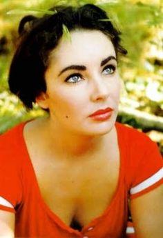 Elizabeth Taylor had luminous beauty - and double rows of eyelashes.