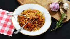 Volkoren cappellini met vegetarische bolognaisesaus