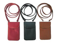 Leather Cellular Phone Bag Full cowhide leather, detachable cross body straps.  Executive Gifts International