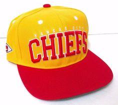 b690d5345ff KANSAS CITY CHIEFS SNAPBACK HAT Yellow amp red white NFL Men Women Teen