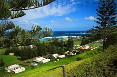 Kingston and Quality Row - Norfolk Island (thinboyfatter - Flickr) Norfolk Island, Relaxing Places, Beautiful Places To Travel, Beautiful Islands, Kingston, The Row, Places Ive Been, Dolores Park, Sunrise
