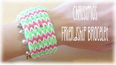 nice Christmas Rainbow Loom friendship bracelet Holiday tutorial Check more at http://rainbowloomsale.com/christmas-rainbow-loom-friendship-bracelet-holiday-tutorial/