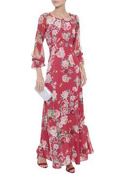 Vestido Crepe Floral Elisa
