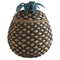 Put a fun, fruity twist on laundry day with our hand-woven pineapple hamper. The unique, woven seagrass design makes a whimsical and functional addition to any bedroom, bathroom or mudroom alike. Laundry day never looked so delicious!