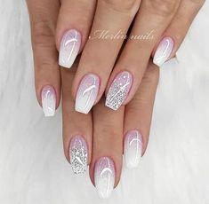 new years nails glitter \ new years nails . new years nails acrylic . new years nails gel . new years nails glitter . new years nails dip powder . new years nails design . new years nails short . new years nails coffin Cute Acrylic Nails, Acrylic Nail Designs, Nail Art Designs, Winter Nail Designs, Sparkle Nail Designs, Acrylic Nails For Summer Glitter, Awesome Nail Designs, Sparkle Gel Nails, White Summer Nails