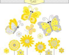 EN venta flor clip arte mariposa clip instantánea por petittatti