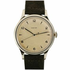 apostrophe9 • menskit: Beautifully understated 1950s Cartier...  Loving this watch for the antique look.  Very mild, classic look.  Perfect with a pair of jeans and button up.