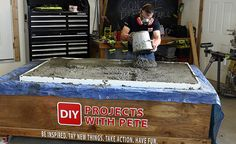 DIY Concrete Dining Table