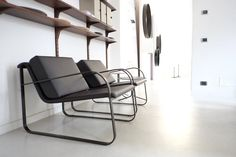 Bugatti armchair in mocha finishes, simply beautiful!