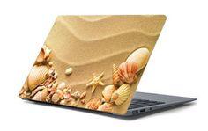 Naklejka na laptopa - Piasek i muszelki 4668