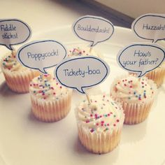 Cupcake Toppers! would be cute to make for cory & kenz & write little funny or cute notes on them!