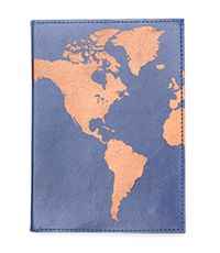 This refillable journal features a copper metallic screen printed world design on blue tanned, ethically-sourced leather cover. Materials: 72 pages of cotton rag tree-free paper. Refillable Journal, World Map Design, Copper Metal, Leather Journal, Leather Cover, Paper Texture, Leather Craft, Screen Printing, Prints