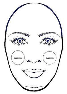 How to contour an oblong face shape