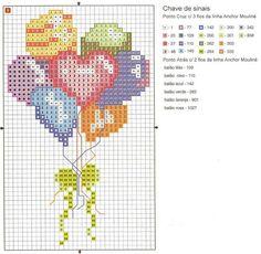 cross stitch chart - Heart, Coeur, Corazon, Cuore, Coração - LovingCrossStitch - Picasa Web Albümleri