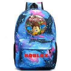 Anime Roblox Print Kids School Backpack Set Lunch Bags Sling Bag Pen Case Lot