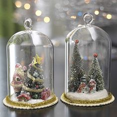 RAZ Imports - Christmas Tree in Glass Dome Ornaments. #Christmas #NewYear #Ornament #Decor #giftidea #Gift #gosstudio .★ We recommend Gift Shop: http://www.zazzle.com/vintagestylestudio ★