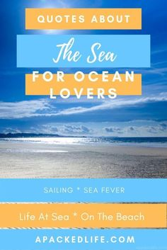 Take inspiration from the ocean in this collection of quotes about the sea, its beauty, its challanges and its many adventures. Canada Travel, Asia Travel, Adventure Quotes, Adventure Travel, Sea Quotes, Solo Travel Quotes, Australia Travel, Travel Inspiration, Sailing
