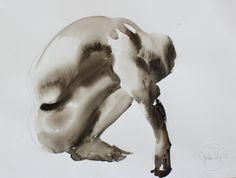 "jordan mejias; Watercolor, 2011, Painting ""LG""; human figures in watercolor"