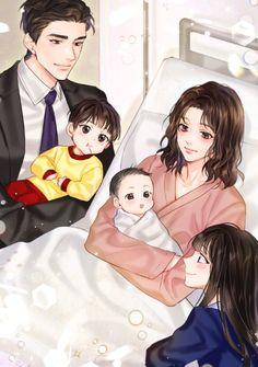Anime Cupples, Anime Dad, Girls Anime, Anime Child, Anime Comics, Anime Couples Drawings, Anime Couples Manga, Cute Anime Couples, Cute Couple Art