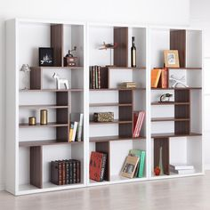 Contrast Modern Bookcase - Room Dividers at Hayneedle
