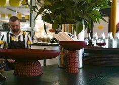 Positano Yes Restaurant, NK, Stockholm by Monica Förster Design Studio Positano Restaurant, Warm Colors, Colours, Nordic Design, Restaurant Design, Creative Director, Stockholm, Table Decorations, Studio