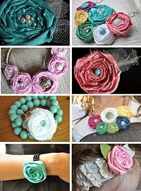 Making fabric rosettes...I will be doing this soon!!!!