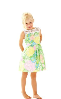 The Mini Raegan Dress is a nod to our Raegan dress for women. This adorable fit and flare dress with lace details is the perfect spring dress for your little. From a family spring break to a party, this dress is the ideal Lilly dress for your girly girl.