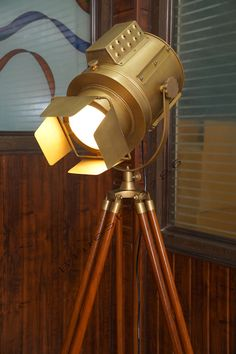 Retail Stores Price $1850    Beautiful marine tripod floor search light on tripod stand. this floor lamp is great for any room & office.  Our Large