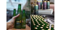 Creuna designed the packaging for Krone, a new brand of Norwegian beer. The design features gold coloring and typography that elevates the product and makes it stand out from almost every other beer brand. Innovation News, Creativity And Innovation, Beer Brands, Beer Packaging, Packaging Design Inspiration, Coffee Bottle, Ipa, Design Awards, Branding Design