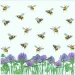 Honeybees and Clover   Bee Napkins   Clover Napkins   Paper Napkins for Decoupage