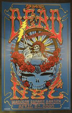 Original Concert Poster For The Dead Allman Brothers And The Doobie Brothers In George Wa At
