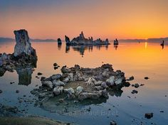 Sunrise on Mono Lake by J-P Bizet