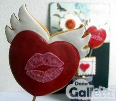 Galletas decoradas. Feliz San Valentin <3 Amor, Decorated Cookies