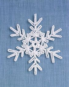 Crochet Motif Martha Stewart Snowflake free crochet pattern - Free Crochet Snowflake Patterns - The Lavender Chair - I can't wait to decorate my house with all of these snowflake crochet patterns! Perfect for decorating the home! Free Crochet Snowflake Patterns, Crochet Stars, Crochet Motifs, Christmas Crochet Patterns, Holiday Crochet, Crochet Snowflakes, Christmas Snowflakes, Thread Crochet, Crochet Crafts