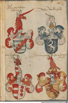 Wappen deutscher Geschlechter Augsburg ?, 4. Viertel 15. Jh. Cod.icon. 311 Folio 88r