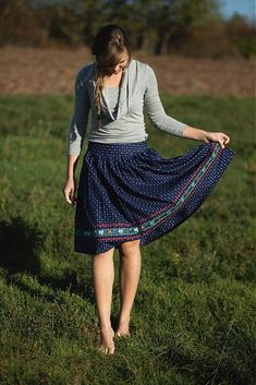 MariaHelen / Modrotlačová sukňa II. Russian Folk, Fashion Beauty, Womens Fashion, Retail Therapy, Free Spirit, Fasion, Cross Stitch Embroidery, Lace Skirt, Fashion Dresses