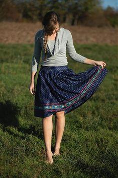 MariaHelen / Modrotlačová sukňa II.