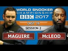 Stephen Maguire v Rory McLeod ᴴᴰ World Snooker Championship 2017 L16 Session 2 - YouTube
