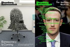 Bloomberg Businessweek (US) 11 & 18 March Game of Thrones and Mark Zuckerberg. 22 March Thoughtfulness in design. Pure Image, Bloomberg Businessweek, David Carson, Dark Matter, Media Design, Digital Media, Magazine Design, Marketing And Advertising, March