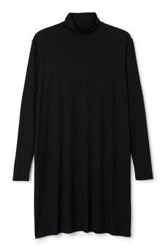 Weekday Meta Jersey Dress in Black