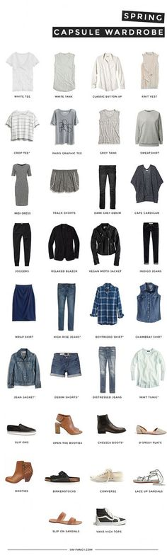 "Minimalist idea for your wardrobe. It's a good idea when you keep telling yourself, ""I have nothing to wear."""