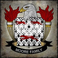 Moore Family Crest - American Coat of Arms
